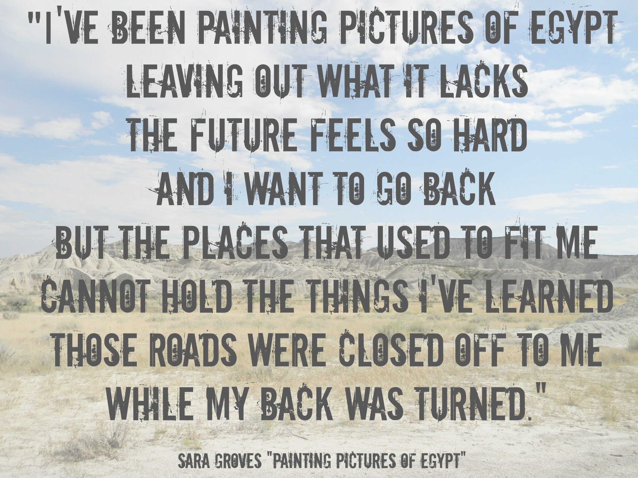 Painting Pictures of Egypt